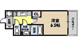 エスリード京橋桜ノ宮公園 11階1Kの間取り