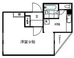 東京都練馬区下石神井3丁目の賃貸マンションの間取り