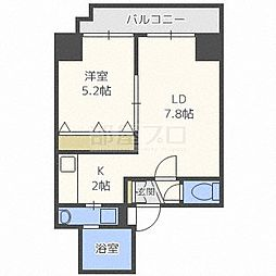 ISグランデ札幌[5階]の間取り