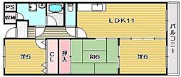 プランドール茨木[2階]の間取り