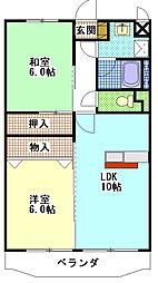 クラウディアII[2階]の間取り