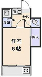 泉ハウスA棟[102号室]の間取り