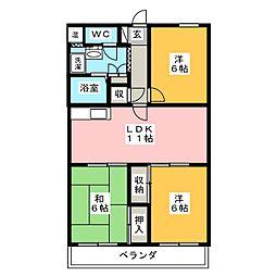 S・T・Rウィスタリアガーデン[2階]の間取り