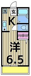 島根マンション[202号室]の間取り