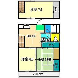 一の宮ハイツ[3階]の間取り