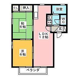 エトワール本野 E棟[1階]の間取り