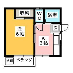 巾クレスト[1階]の間取り