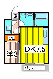コーポボナール[1階]の間取り