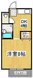 パナハイツ諏訪[2階]の間取り