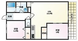 GEパークサイド[1階]の間取り