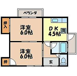 川崎アパート[202号室]の間取り
