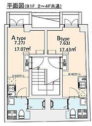 東京メトロ千代田線 湯島駅 徒歩2分の賃貸マンション 4階ワンルームの間取り