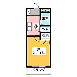 ユースハイム鶴里[2階]の間取り