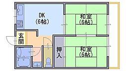 柴田マンション[401号室]の間取り
