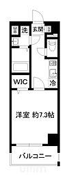 近鉄京都線 東寺駅 徒歩9分の賃貸マンション 2階1Kの間取り