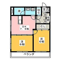 レジデンス輝樹[3階]の間取り