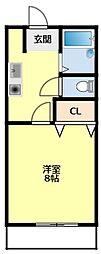 名鉄三河線 梅坪駅 徒歩8分の賃貸アパート 1階ワンルームの間取り