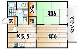 ビーライン風師II[2階]の間取り