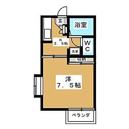 メゾンゴトウJrII[1階]の間取り