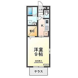 JR湖西線 マキノ駅 徒歩2分の賃貸アパート 2階1Kの間取り