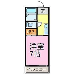 愛知県半田市青山2丁目の賃貸マンションの間取り
