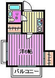 岸町メゾン[2階]の間取り