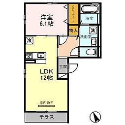 セレナーデB棟[2階]の間取り