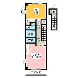 ハイステージグランシャリオ[2階]の間取り