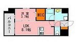LANDIC K320 8階1LDKの間取り
