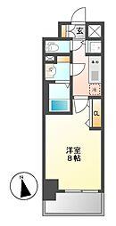 プレサンス新栄町ギャラント[7階]の間取り