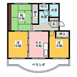 ビバレイ ユイ[3階]の間取り