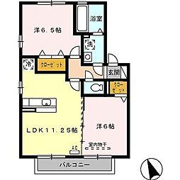 アルル B棟[2階]の間取り