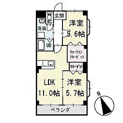 ヴィラ葵A棟 3階[301号室]の間取り