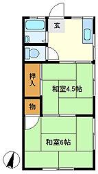 三愛コーポ北越谷 206[2階]の間取り