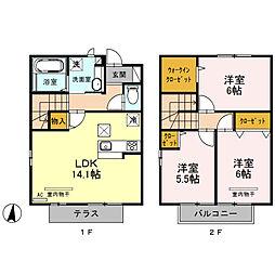 (仮)今羽町D-room新築工事[103号室]の間取り