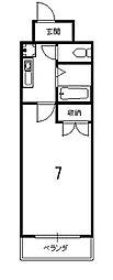 京卓ハイツ[502号室]の間取り
