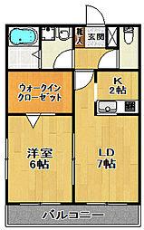 東急田園都市線 三軒茶屋駅 徒歩15分の賃貸マンション 1階1LDKの間取り