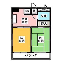 岩津マンション[2階]の間取り