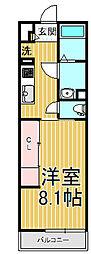 リブリ・瑠璃・鎌倉[303号室]の間取り