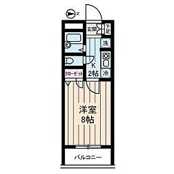 ヴィレッジ・イン・富士見丘[3階]の間取り