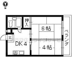 コ−ポ余座[305号室]の間取り