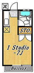 クレール1[2階]の間取り