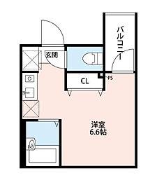 東京都荒川区東尾久4丁目の賃貸アパートの間取り