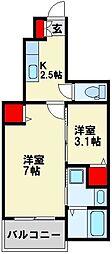グッドライフ別所II[1階]の間取り