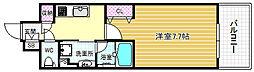 アーバネックス堂島 3階1Kの間取り