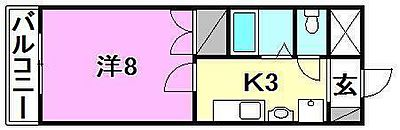間取り,1K,面積25.8m2,賃料3.4万円,伊予鉄道横河原線 横河原駅 徒歩13分,伊予鉄道松山駅前線 道後公園駅 15.6km,愛媛県東温市北方