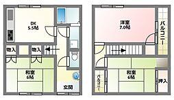 [一戸建] 大阪府寝屋川市高倉1丁目 の賃貸【/】の間取り