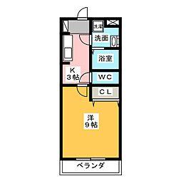 キャッスルバンブーII[2階]の間取り