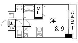 ファーストフィオーレ三宮イーストII[2階]の間取り