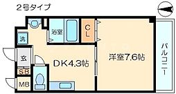今川マンション[5階]の間取り